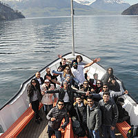 Activities on Lake Lucerne - B.H.M.S. students
