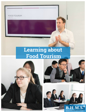 "Workshop: Having a lesson about ""Food Tourism"" - B.H.M.S. Students"