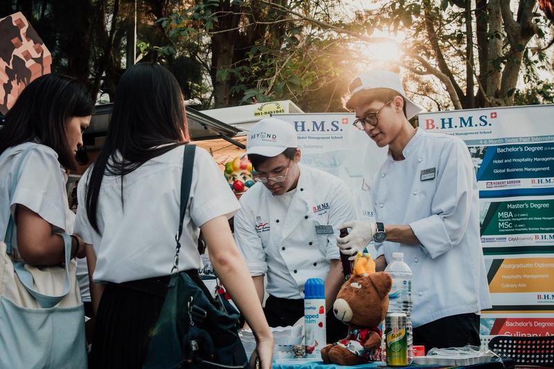 B.H.M.S. participated in the Thammasat University's event