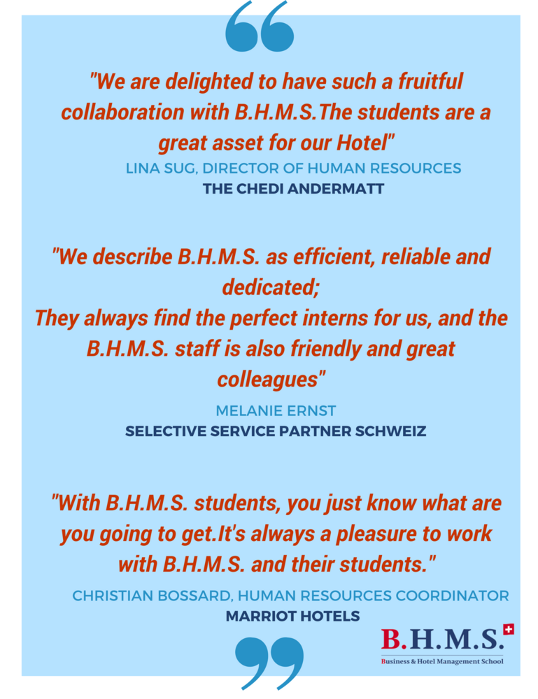 Industry Partners' Feedback on B.H.M.S. Students