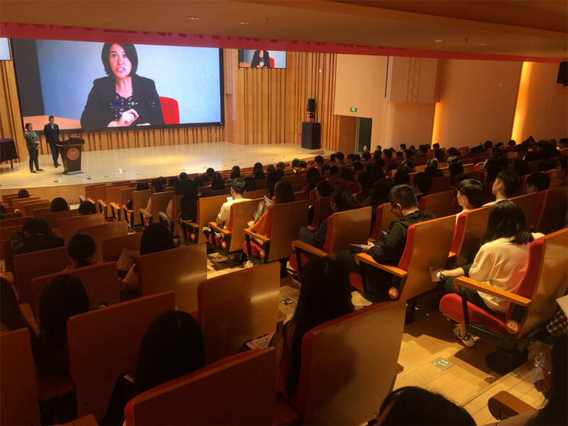 Big BHMS presentation in auditorium in Fuzhou, China